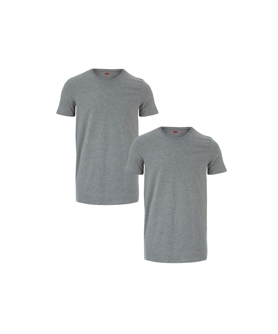 Image for Men's Levis Crew Neck 2 Pack T-Shirt in Grey