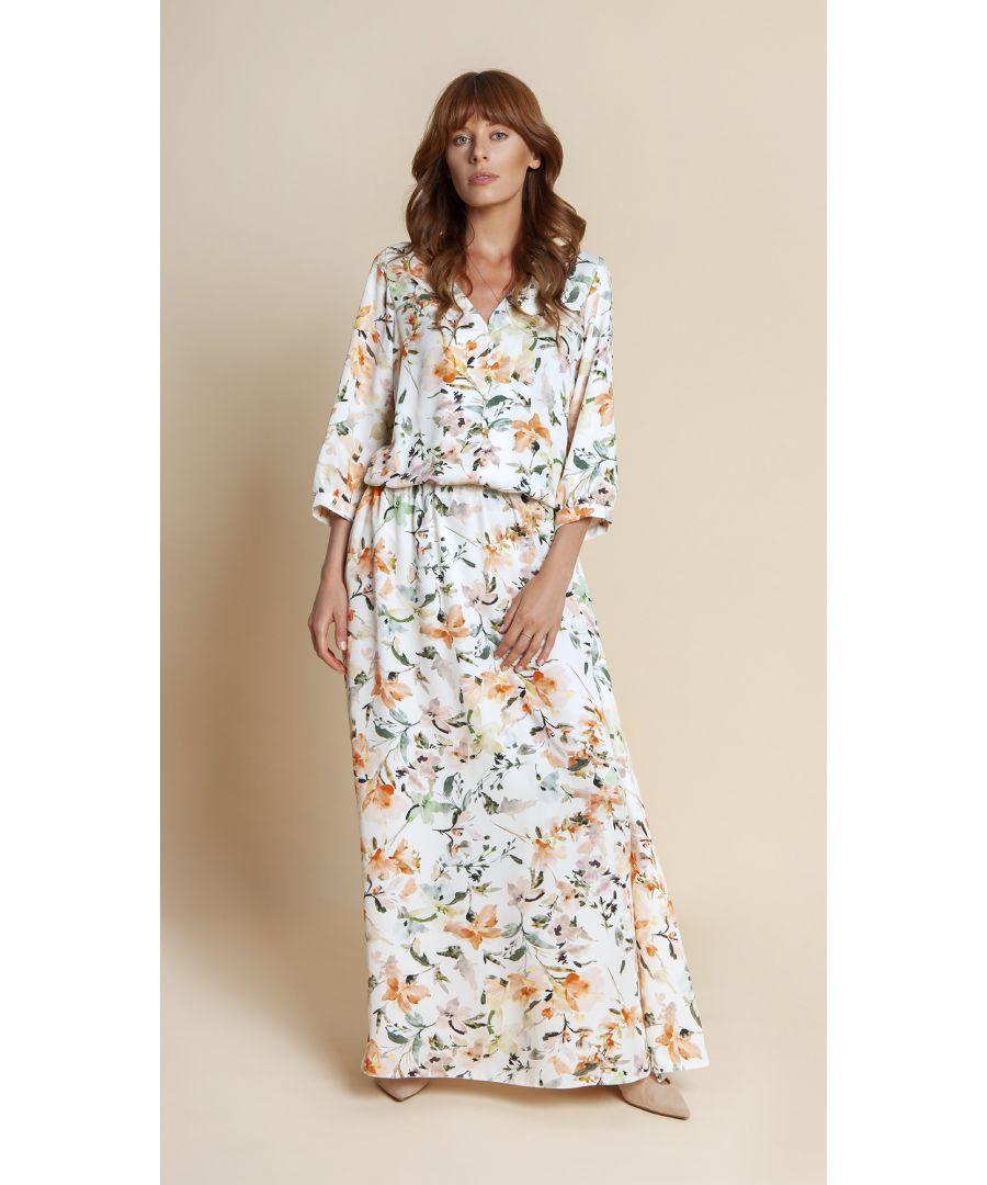 Image for Lana Floral White Dress