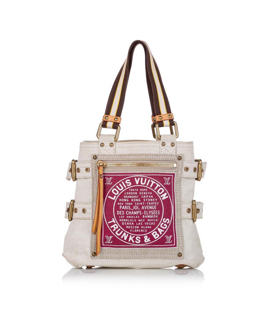 Image for Vintage Louis Vuitton Globe Shopper Cabas PM White