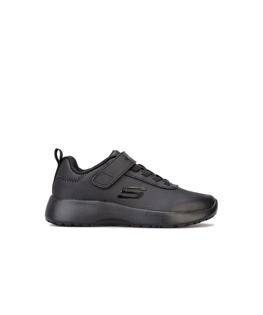 Image for Boy's Skechers Children Dynamight Day School Trainers in Black