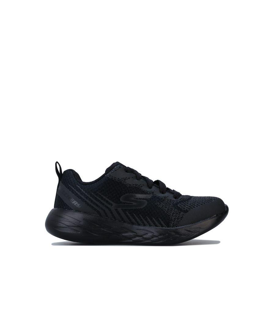Image for Boy's Skechers Junior Go Run 600 Hendox Trainers in Black