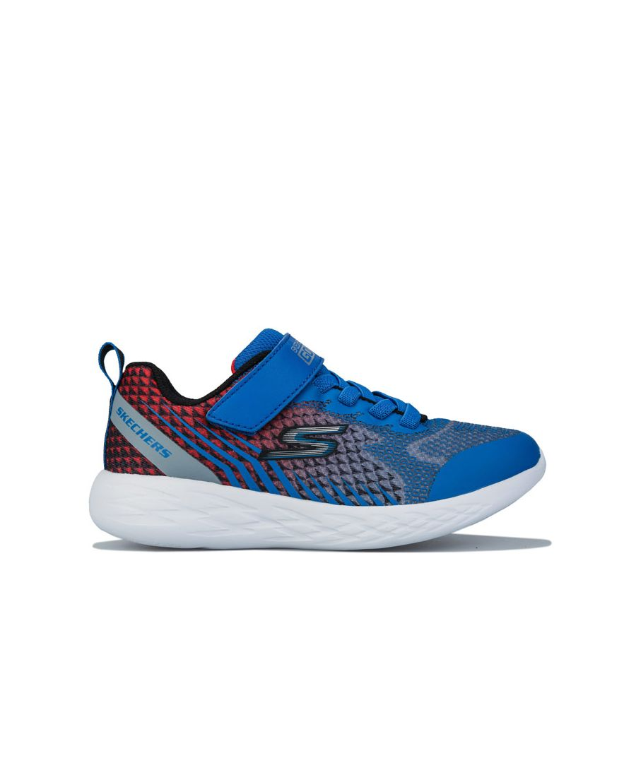 Image for Boy's Skechers Junior Go Run 600 Trainers in Blue red