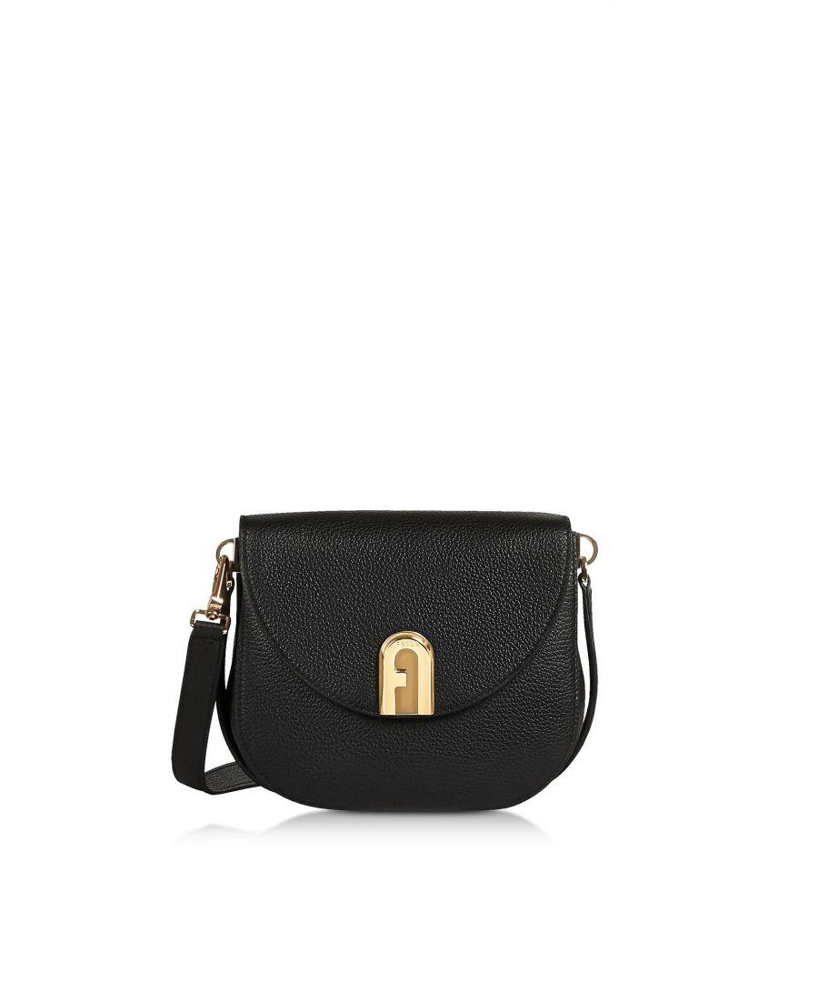 Image for FURLA WOMEN'S 1045003 BLACK LEATHER SHOULDER BAG
