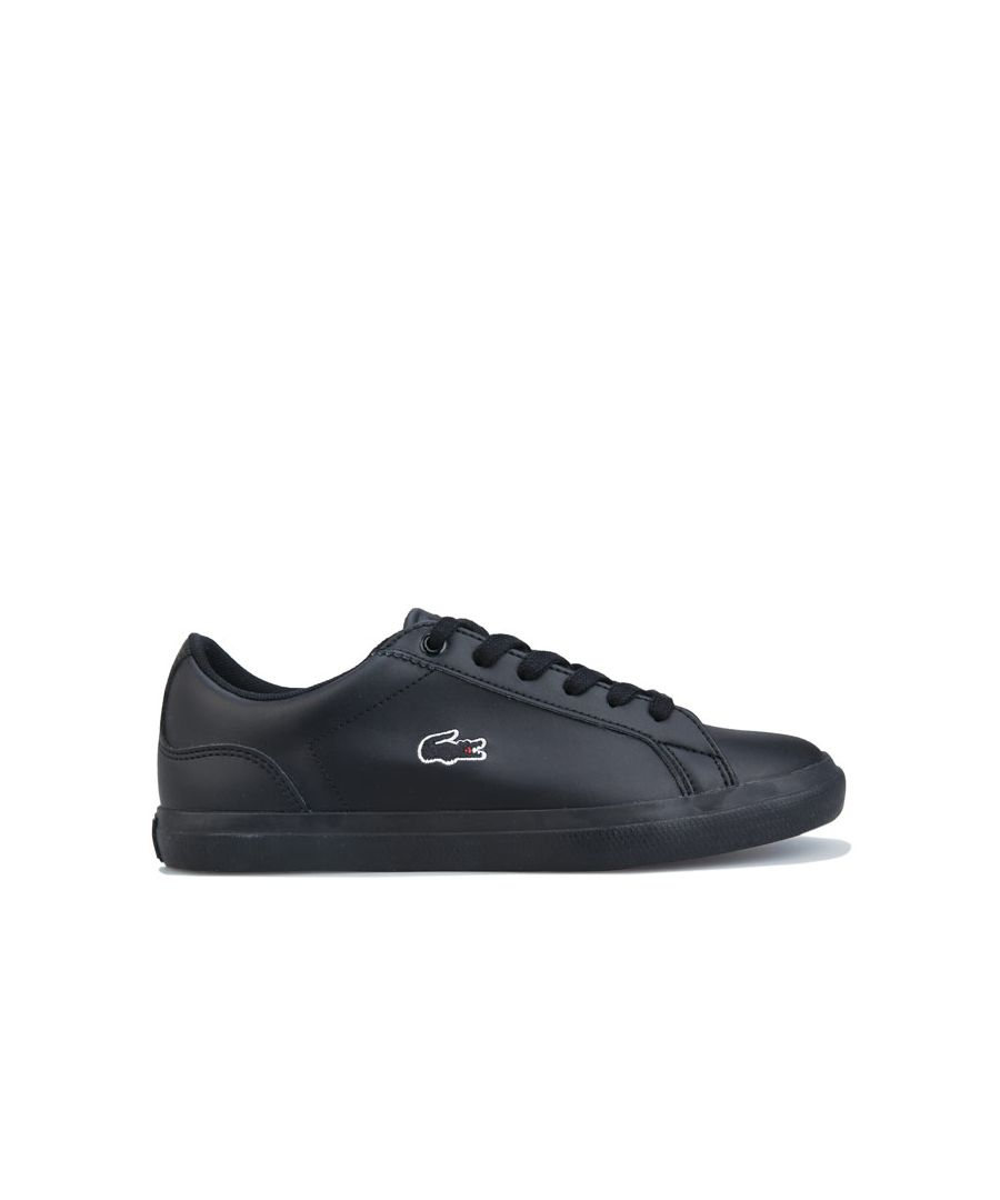 Image for Boy's Lacoste Junior Lerond Trainers in Black