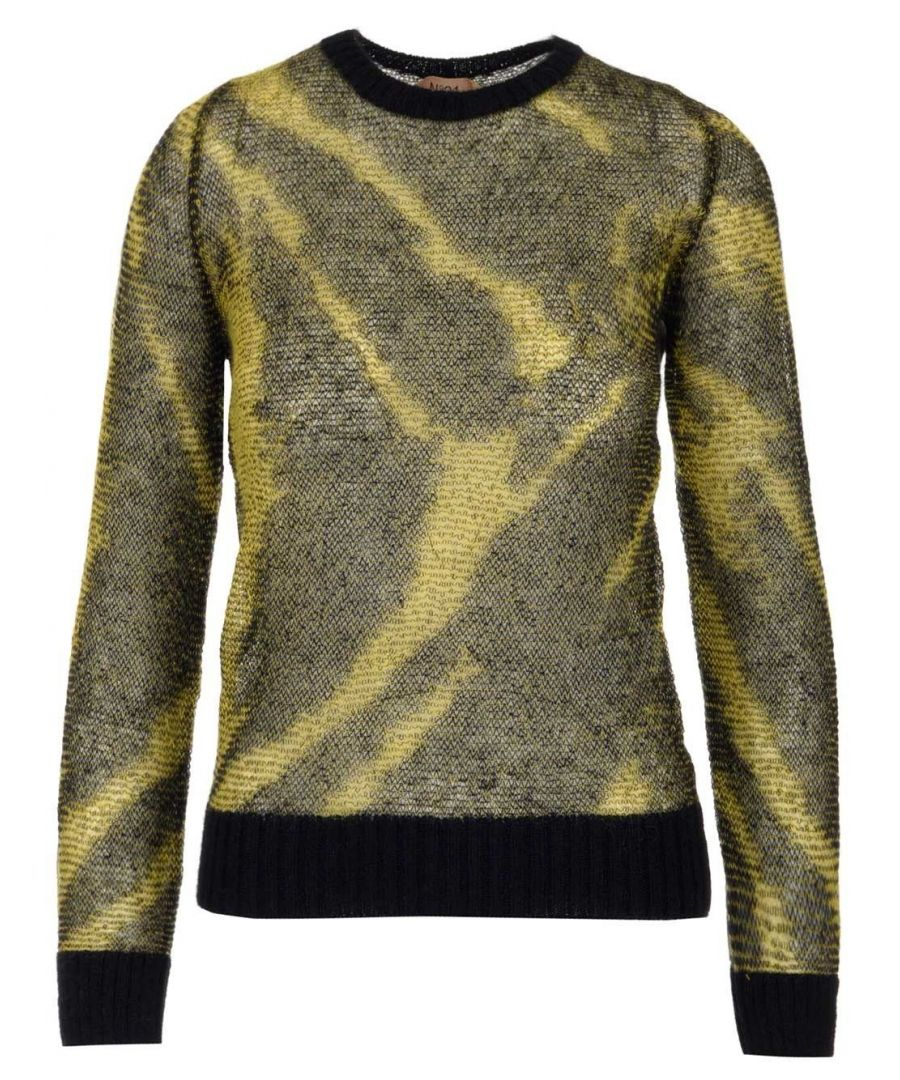 Image for N°21 WOMEN'S A00970863182 YELLOW WOOL SWEATER