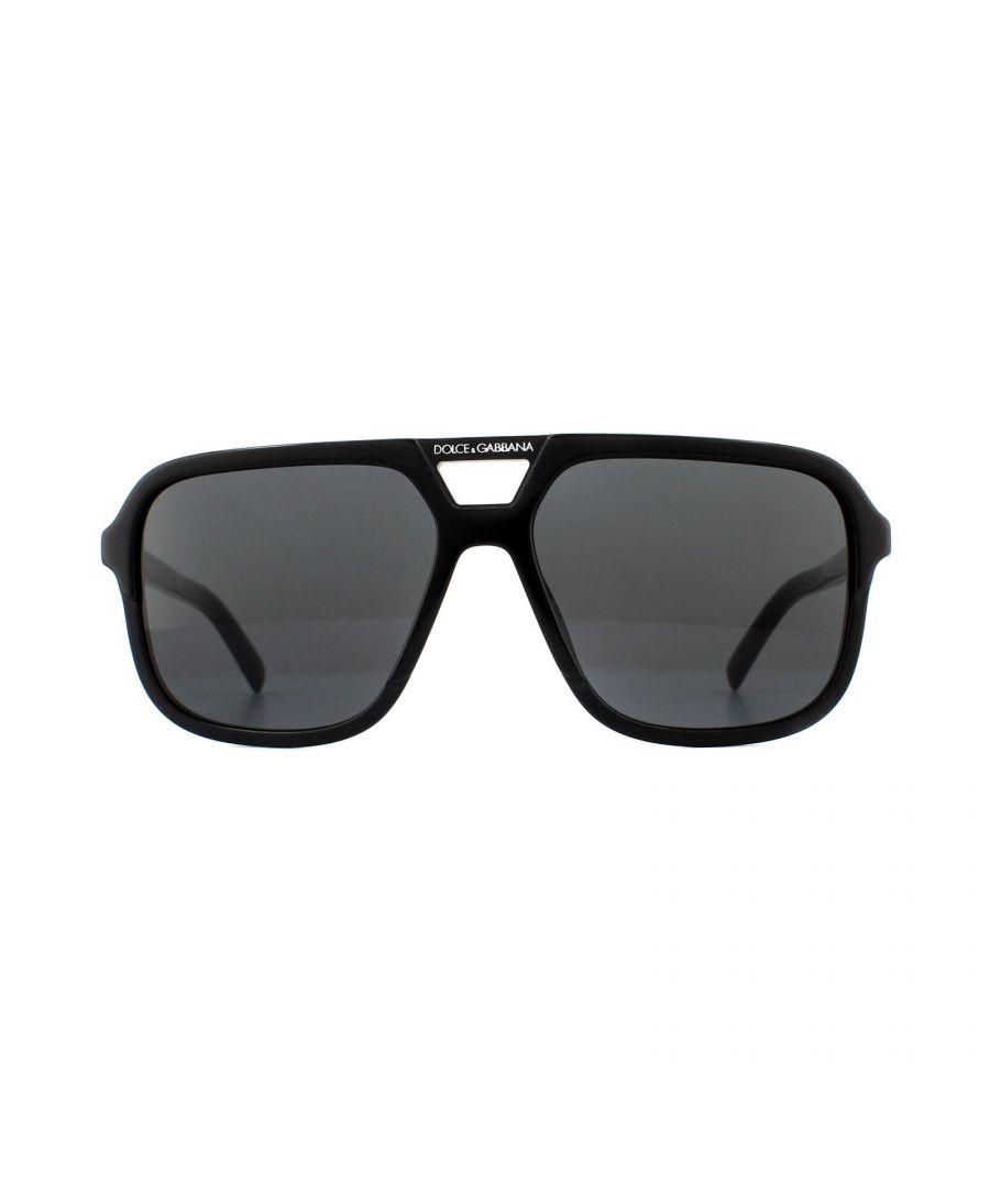 Image for Dolce & Gabbana Sunglasses DG4354 501/87 Black Grey Gradient