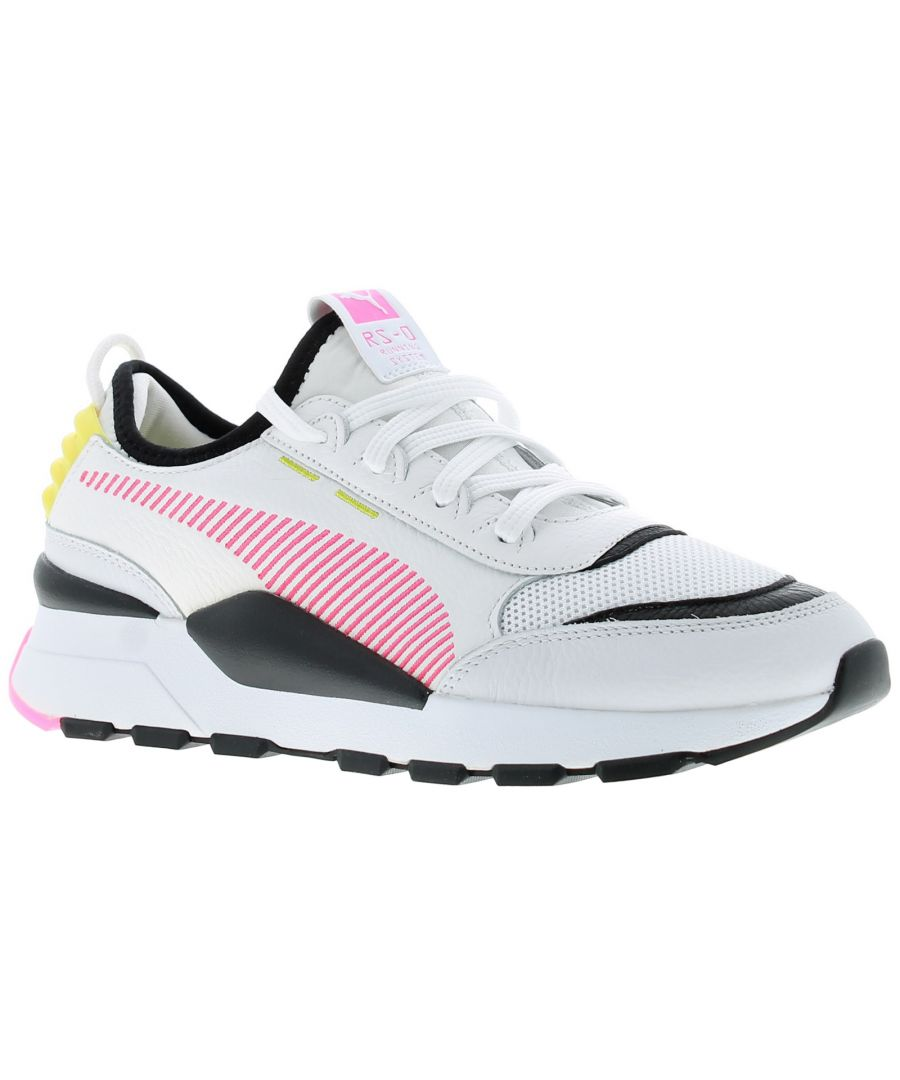 Image for Ladies Lace Up Synthetic And Mesh Lightweight Oversized Fashion Trainer With A Rubber Outsole