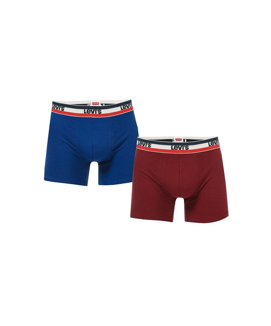Image for Men's Levis 2 Pack Sports Logo Boxer Shorts in Blue