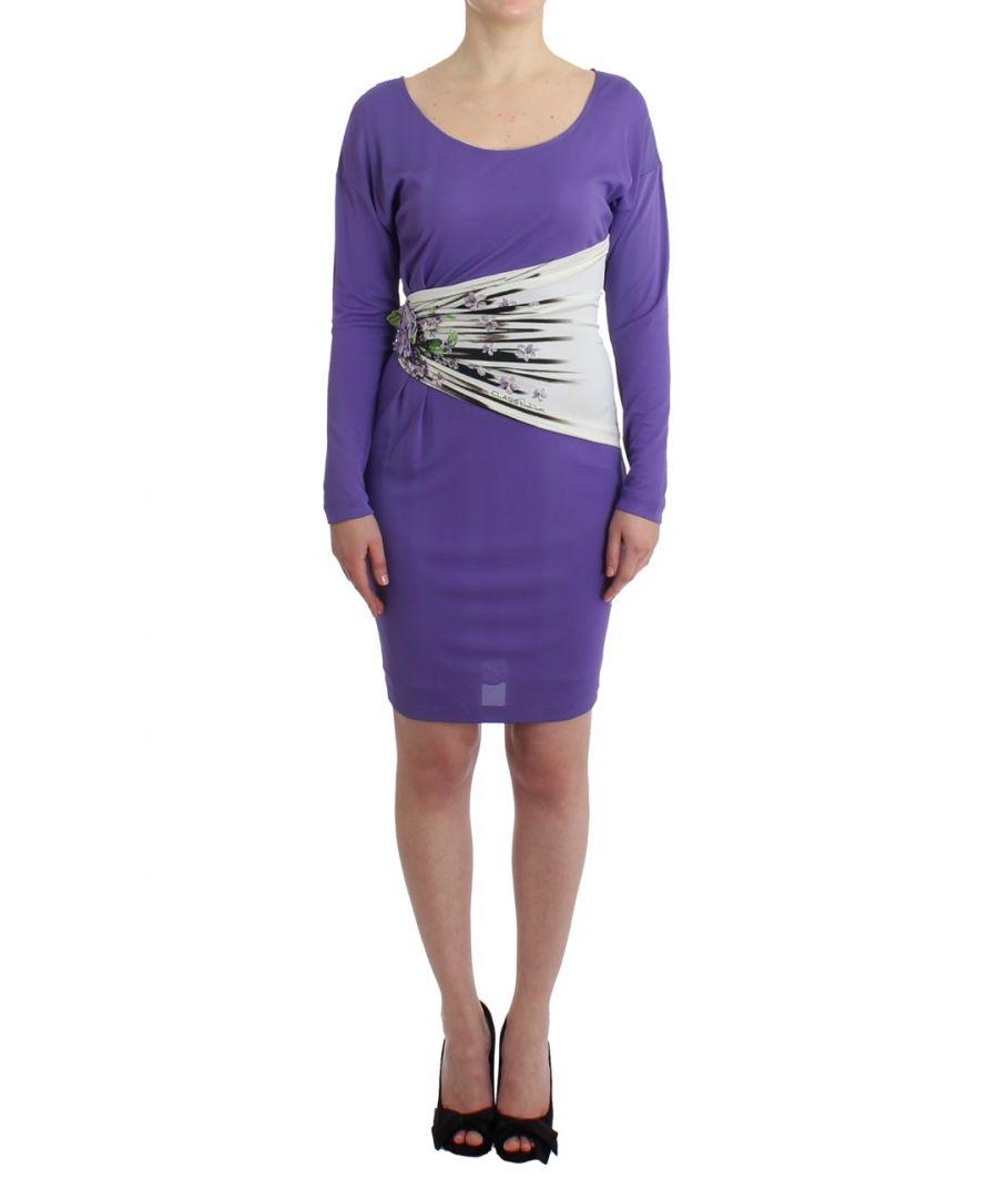 Image for Cavalli Purple longsleeved dress