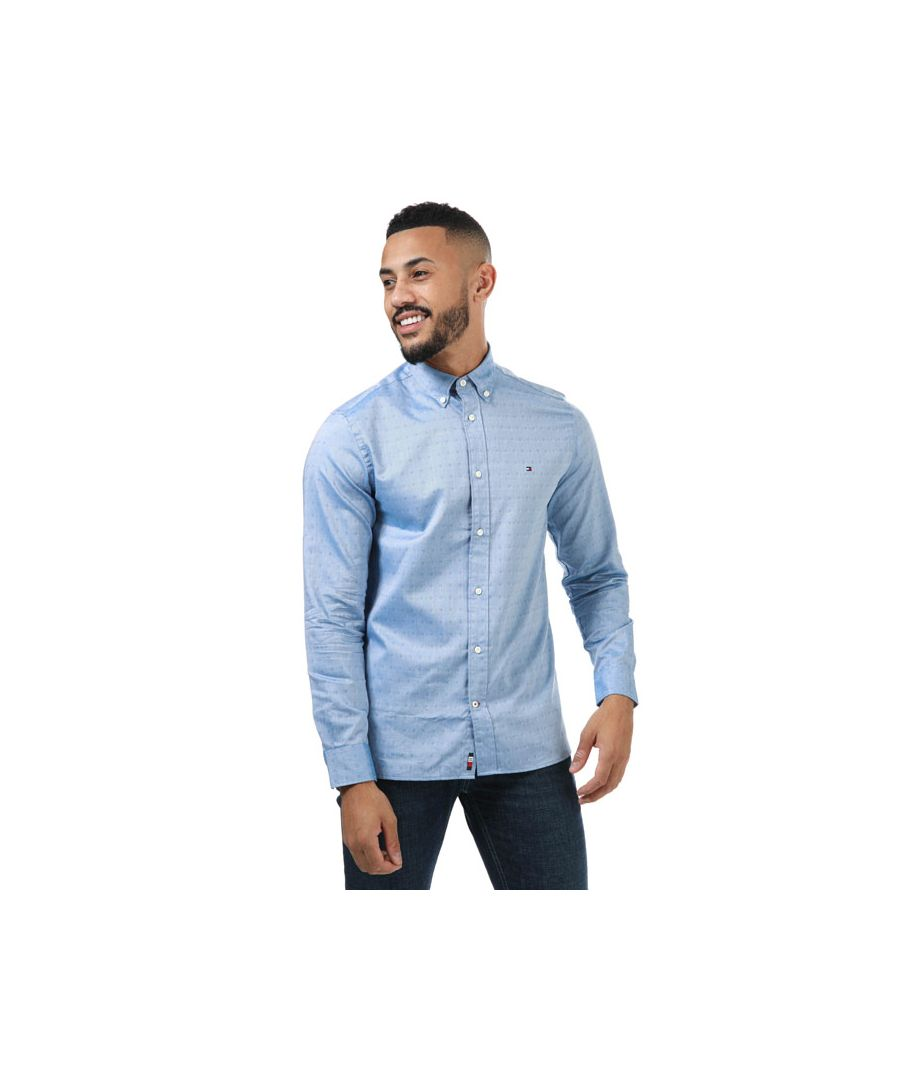 Image for Men's Tommy Hilfiger Travel Oxford Dobby Shirt in Blue