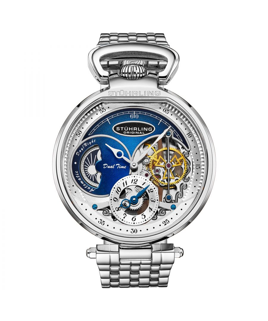 Image for Silver and Blue Modena Automatic 46mm