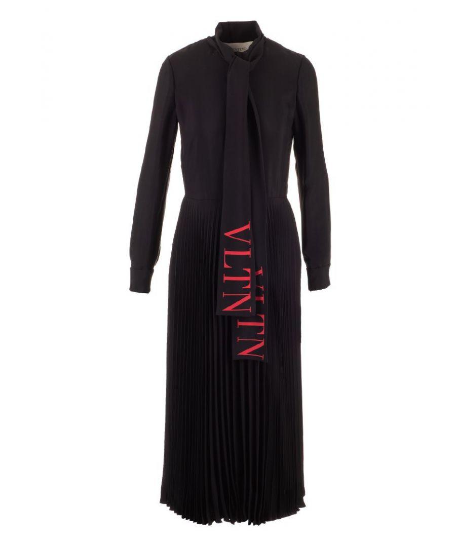 Image for VALENTINO WOMEN'S SB3VAN854NK0NR BLACK VISCOSE DRESS
