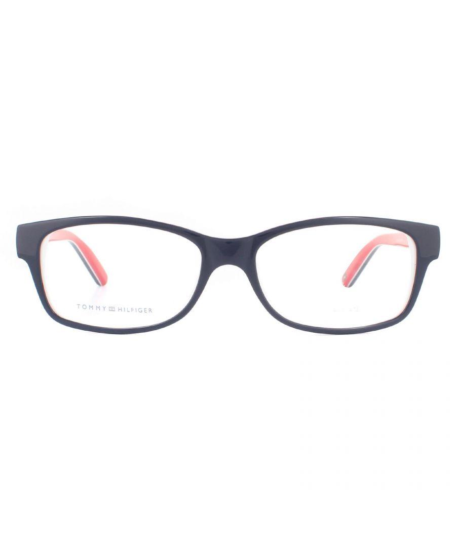 Image for Tommy Hilfiger Glasses Frames TH 1018 UNN Blue Red White Women