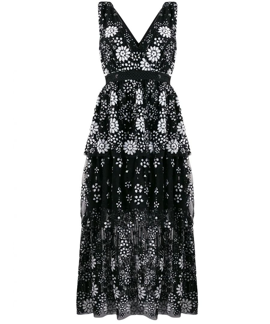 Image for SELF-PORTRAIT WOMEN'S RS20087BLACK BLACK POLYAMIDE DRESS