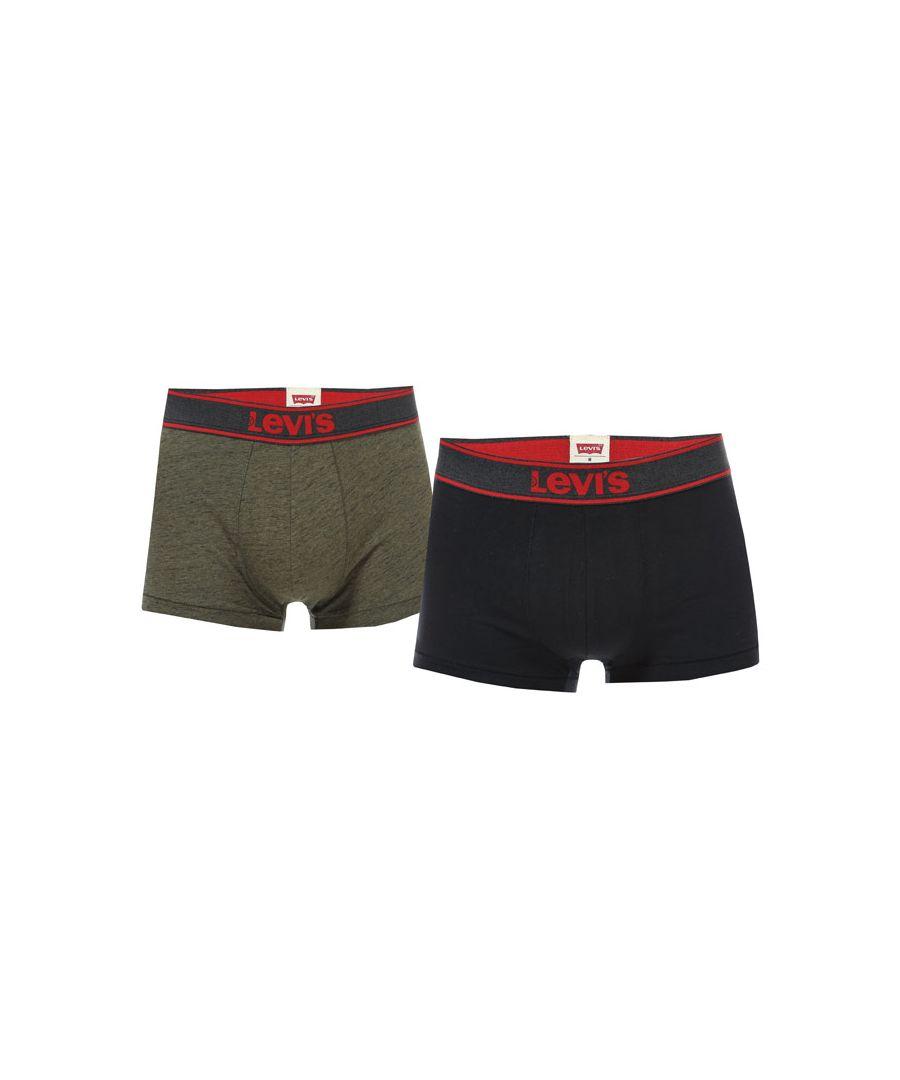 Image for Men's Levis 2 Pack Boxer Shorts in olive