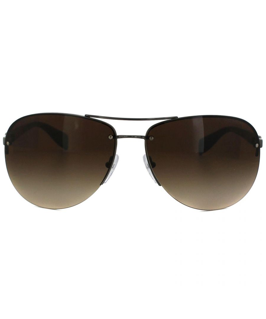 Image for Prada Sport Sunglasses 56MS 5AV6S1 Brown Brown Gradient 65mm