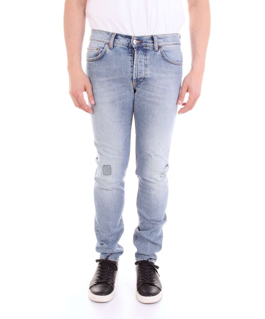 Image for AGLINI MEN'S MARKE70BLU BLUE COTTON JEANS