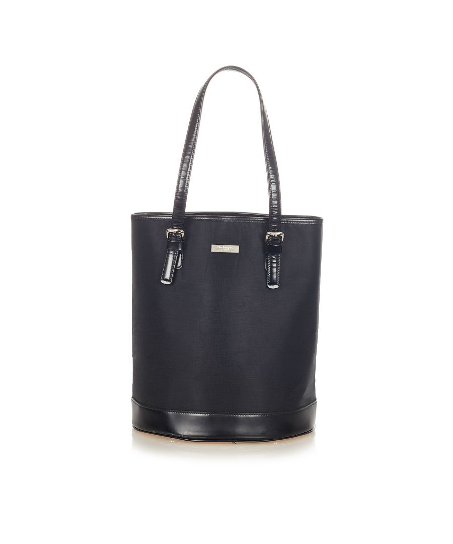 Image for Vintage Burberry Nylon Bucket Bag Black