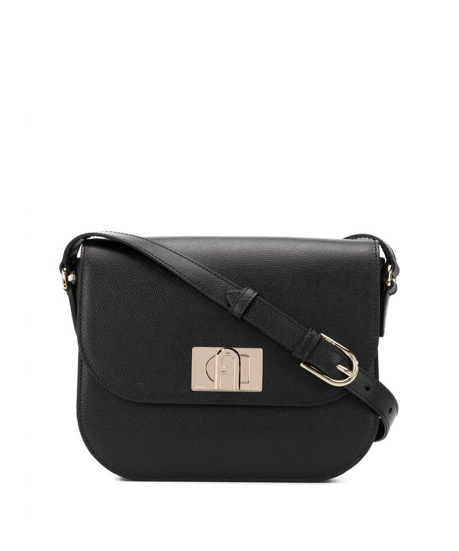Image for FURLA WOMEN'S 1065298 BLACK LEATHER SHOULDER BAG