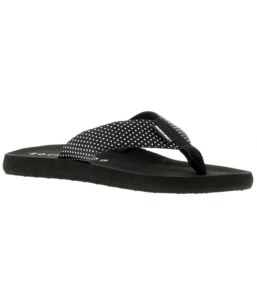 Image for Womens Eva Flip Flop With Contrasting Canvas Thong Upper From Rocket Dog Ideal To Pack Away For Holi