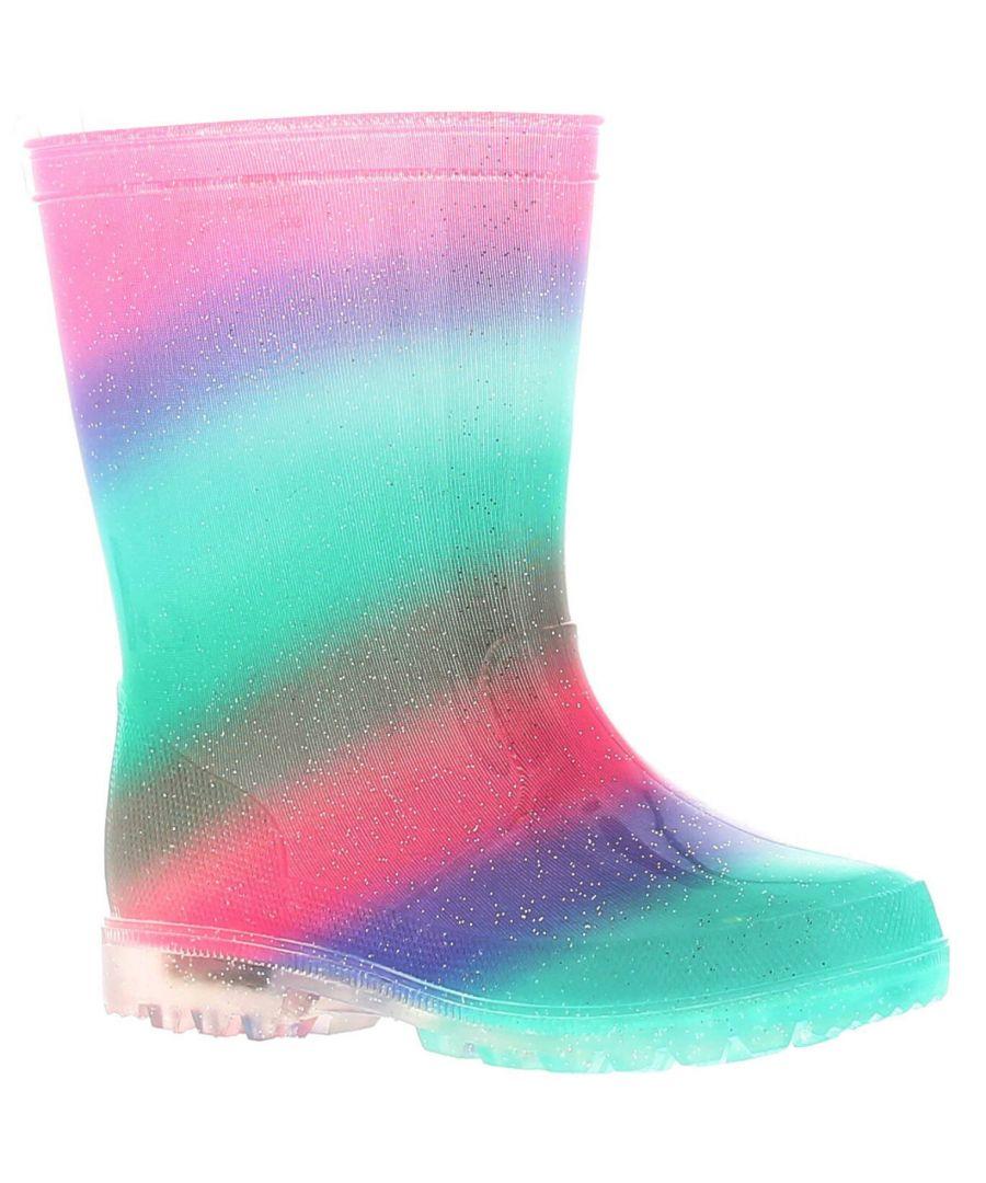 Image for Princess Stardust Rainfall Girls Kids Wellies Wellington Boots Rainbow