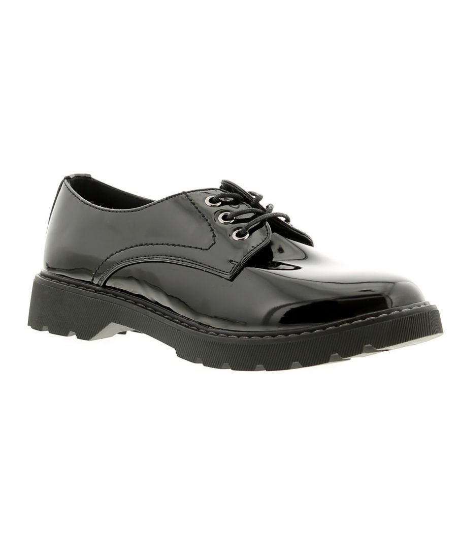 Image for Apache ap katala womens ladies flats shoes black patent