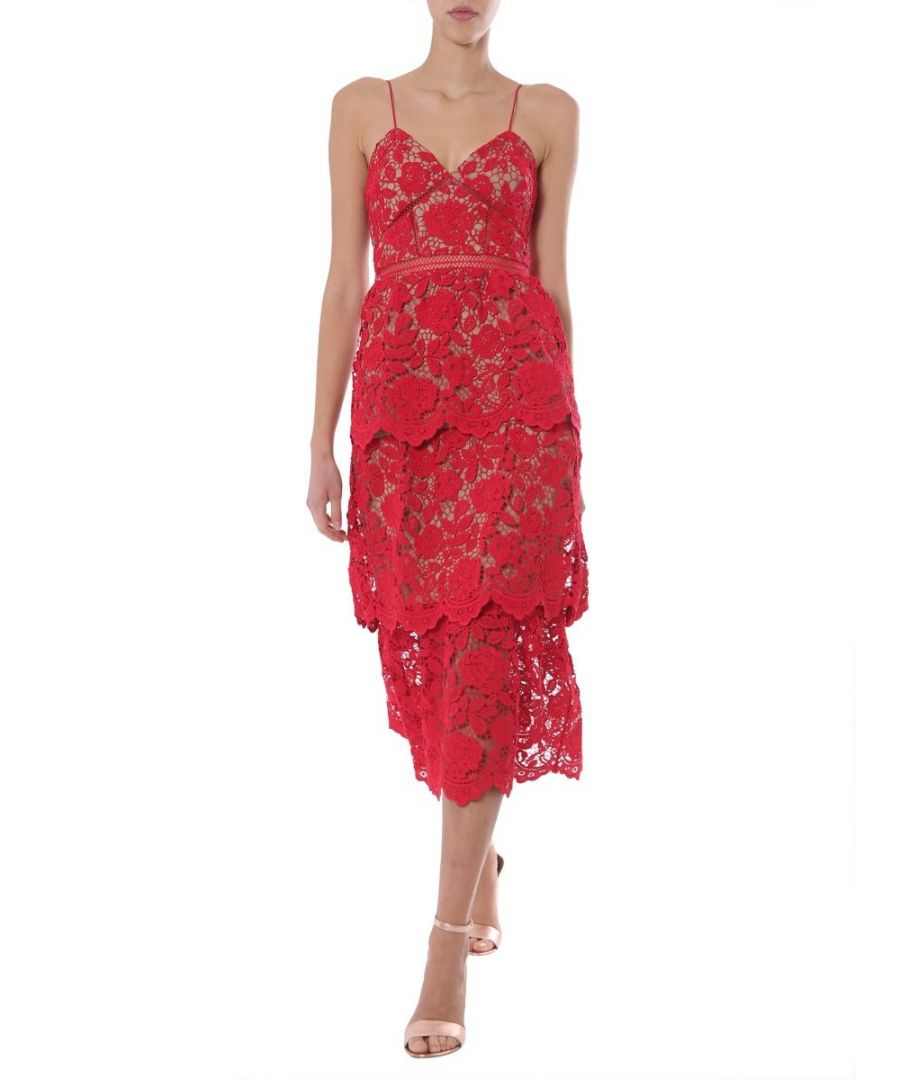 Image for SELF-PORTRAIT WOMEN'S RS20113FRED RED POLYESTER DRESS