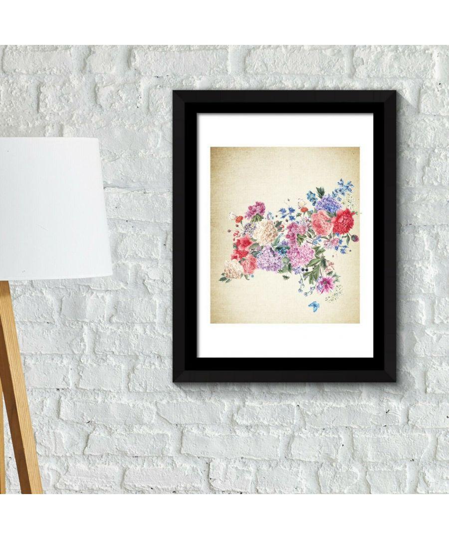 Image for Walplus Framed Art 2in1 Flower Arts 2 Poster wall decal, wall decal flowers, Framed Photo, Framed Art