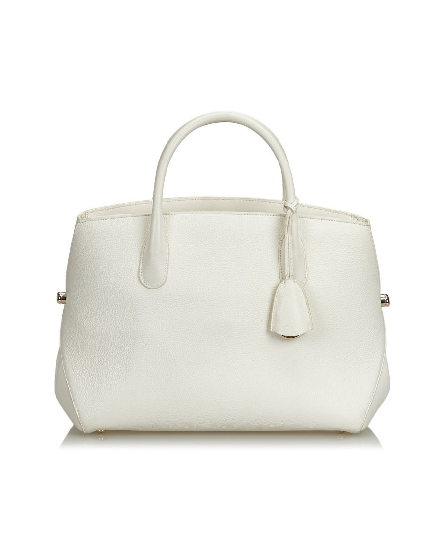 Image for Dior Leather Open Bar Handbag White