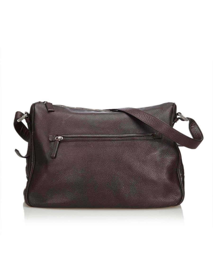 Image for Vintage Prada Leather Shoulder Bag Brown