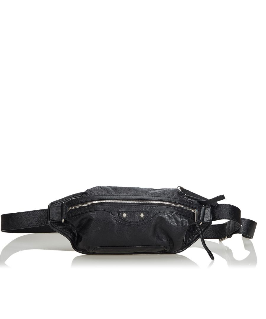 Image for Vintage Balenciaga Lambskin Neolife Belt Bag Black