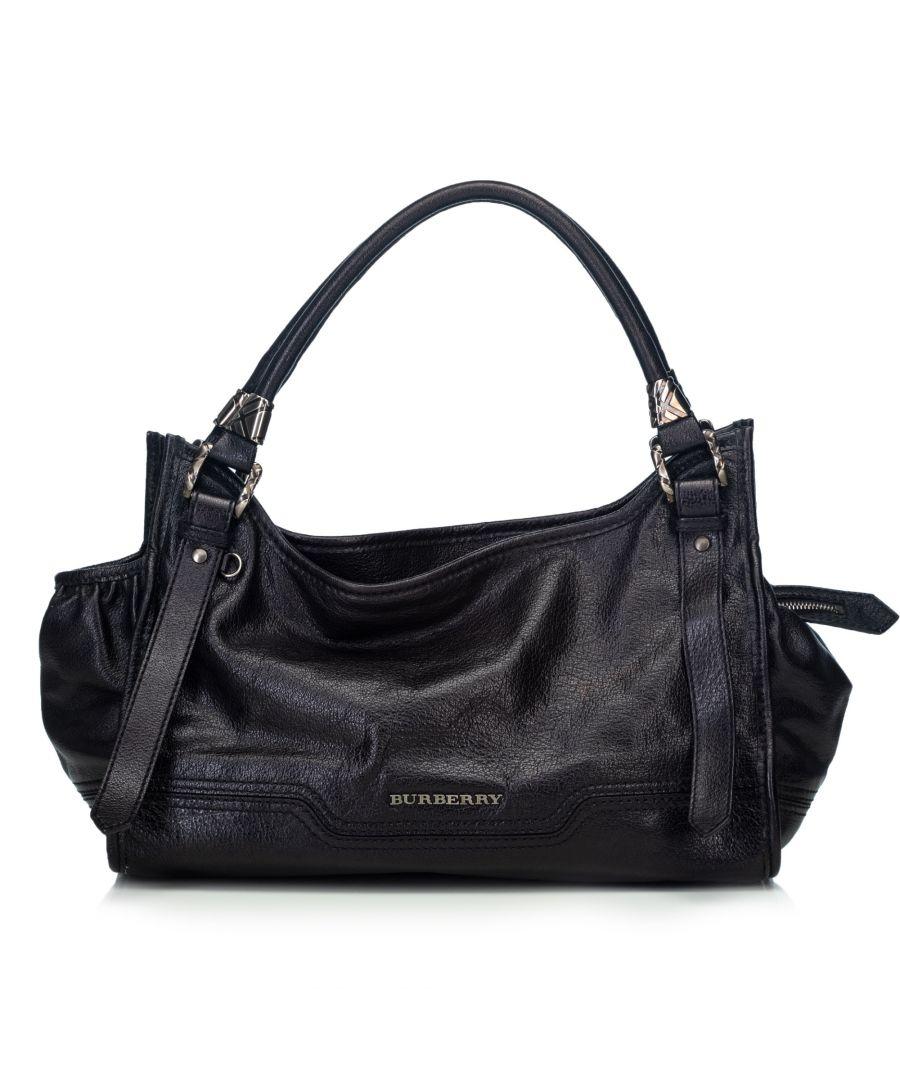 Image for Burberry Leather Handbag Black