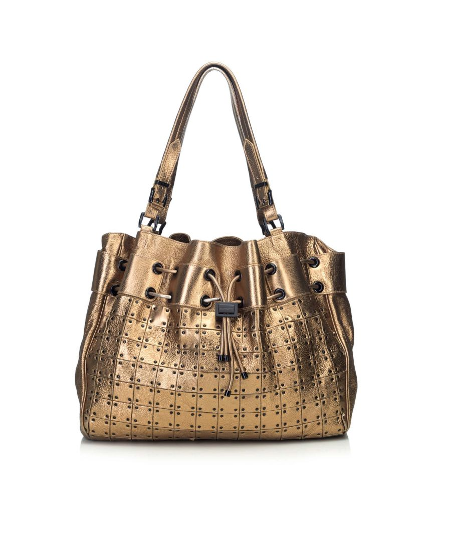 Image for Burberry Warrior Drawstring Tote Bag Gold