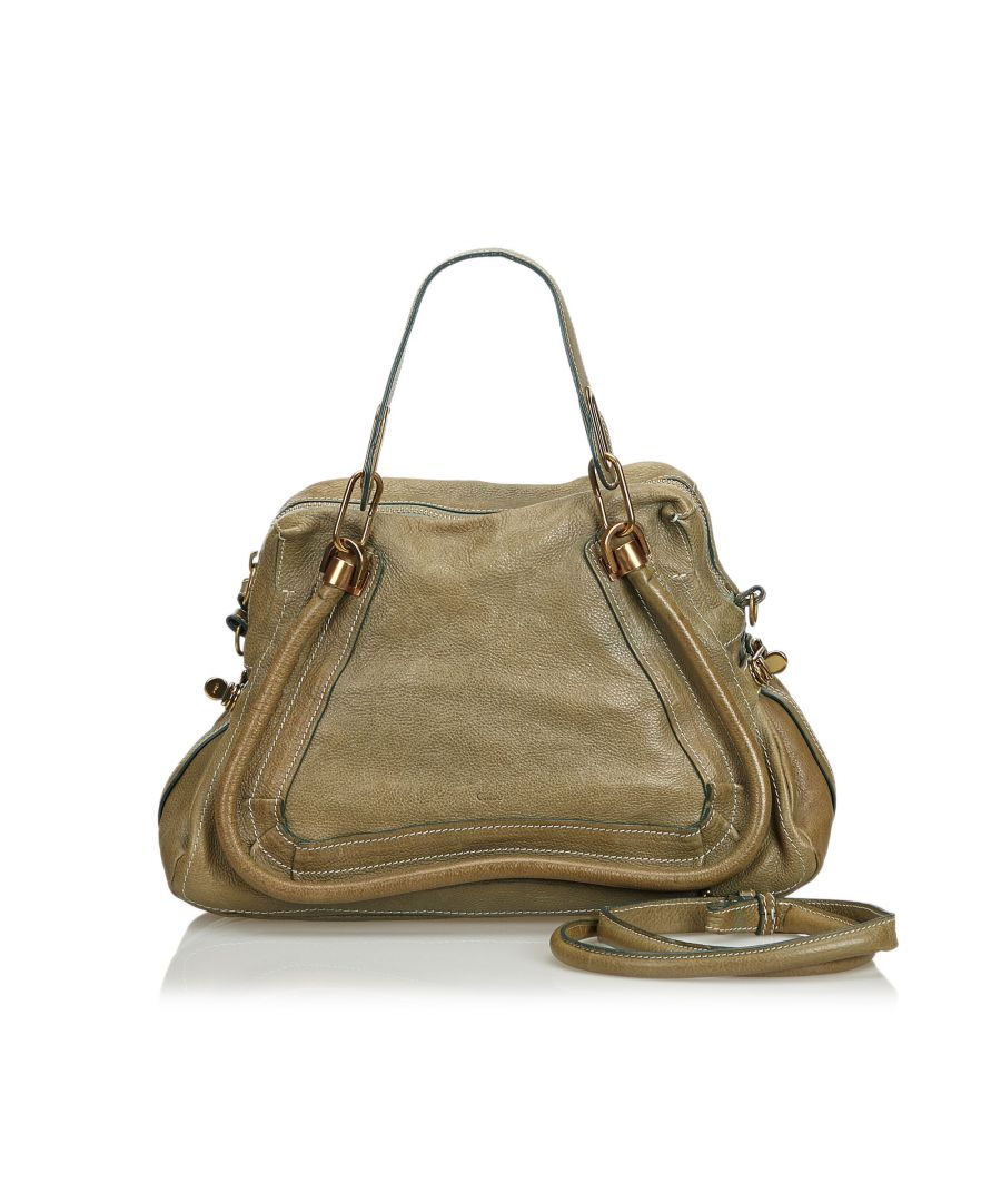 Image for Vintage Chloe Leather Paraty Satchel Brown