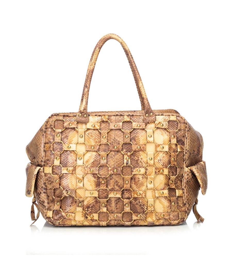 Image for Dior Python Handbag Brown