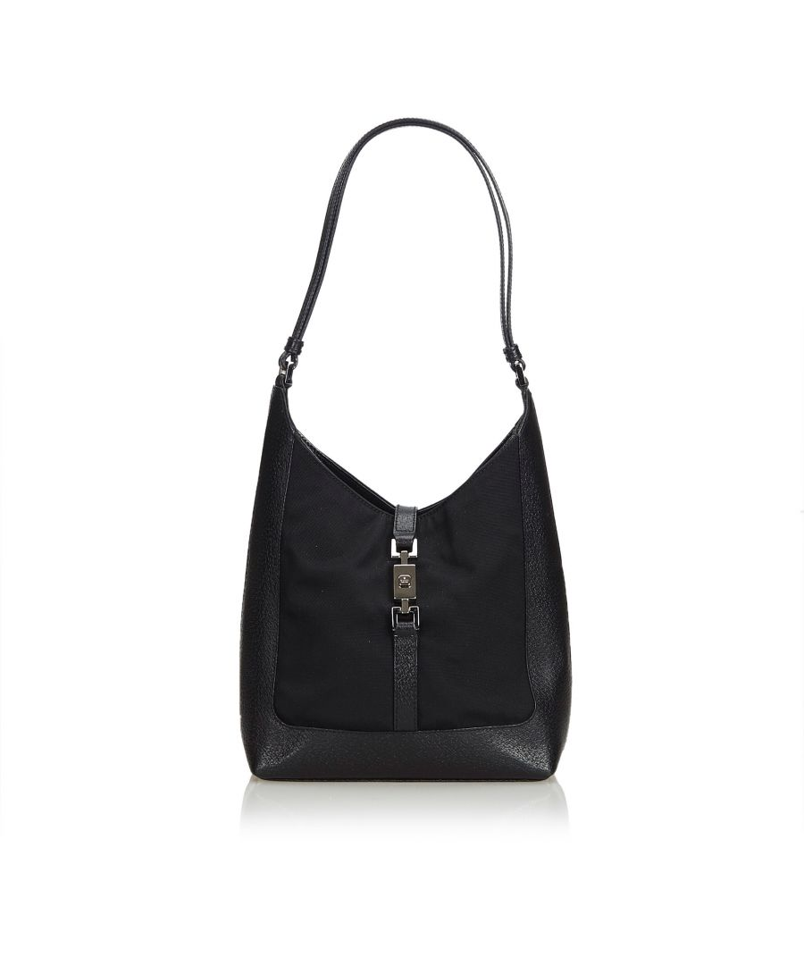 Image for Gucci Canvas Jackie Shoulder Bag Black