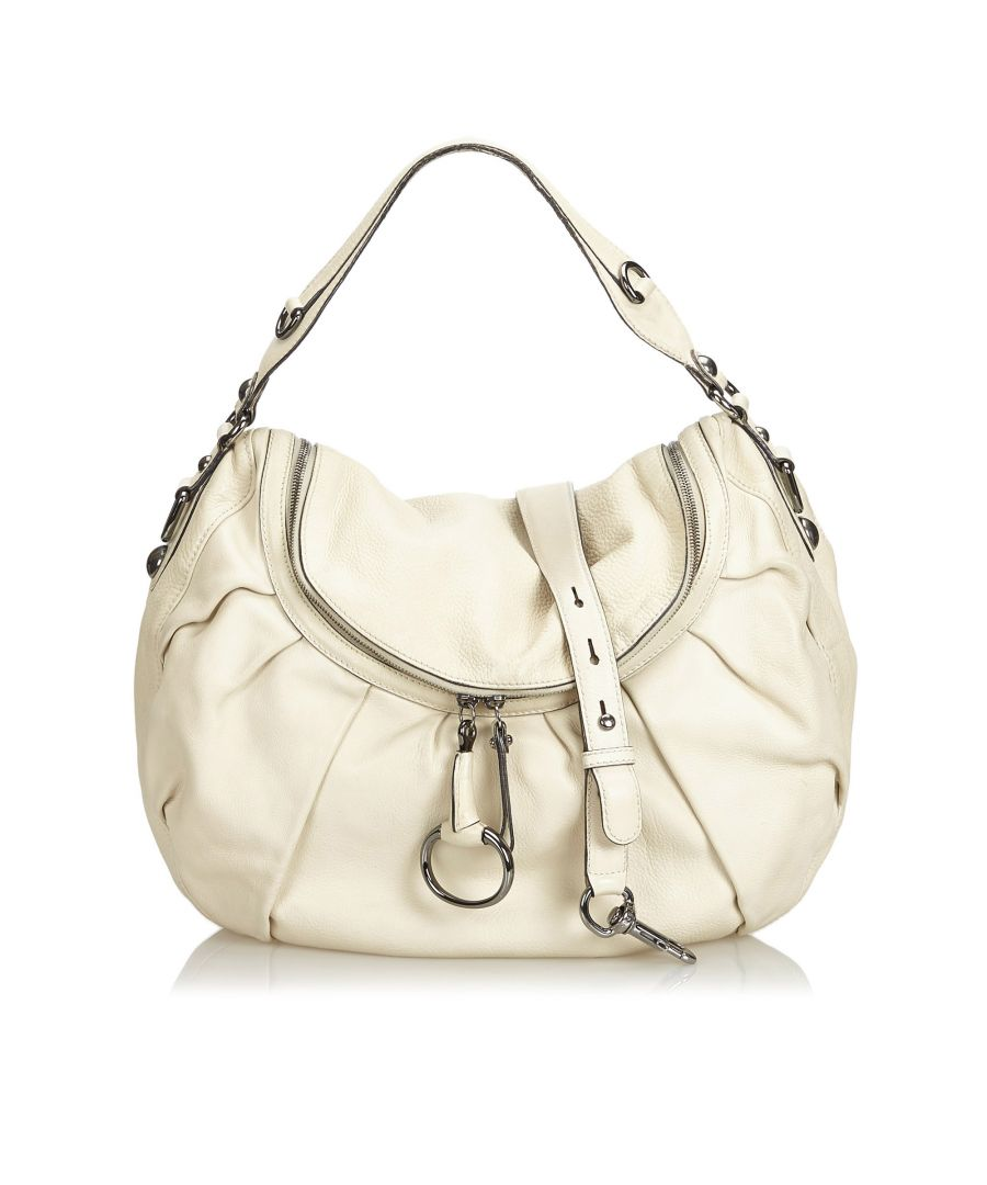 Image for Vintage Gucci Leather Icon Bit Satchel White