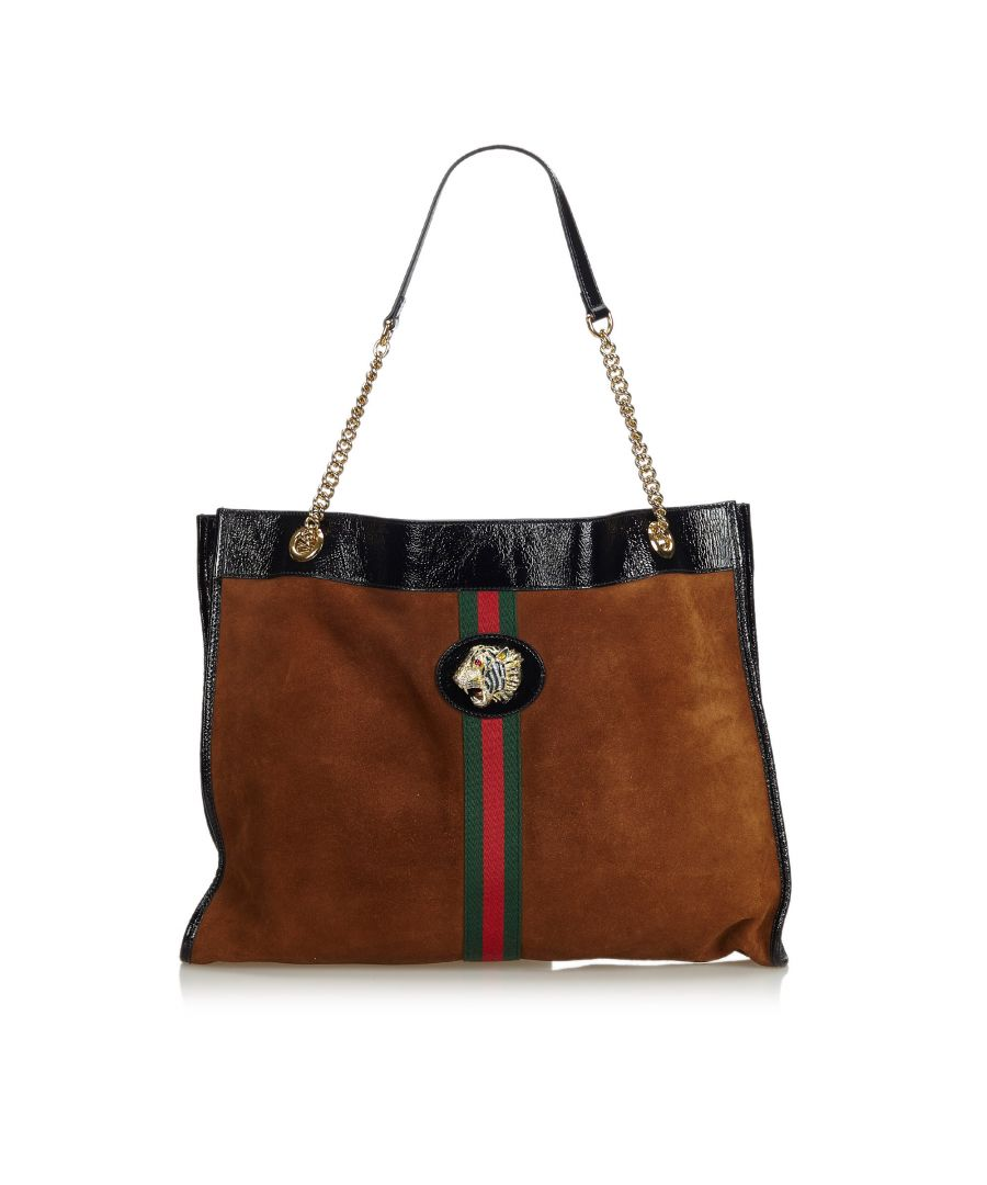 Image for Gucci 2018 Large Rajah Tote Bag Brown