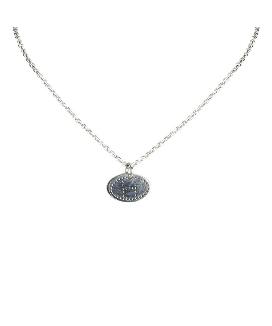 Image for Hermes Silver Eclipse Pendant Necklace Silver