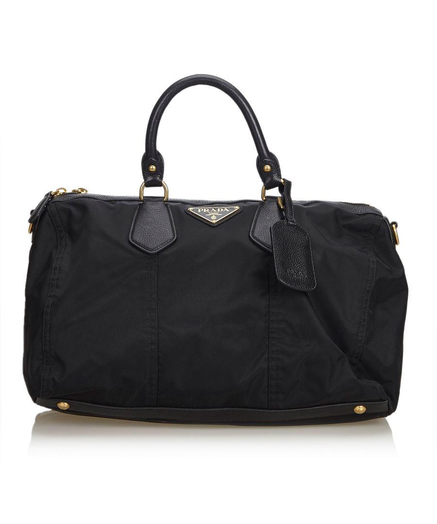 Image for Vintage Prada Nylon Handbag Black
