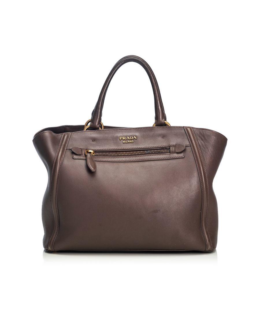 Image for Prada Leather Handbag Brown