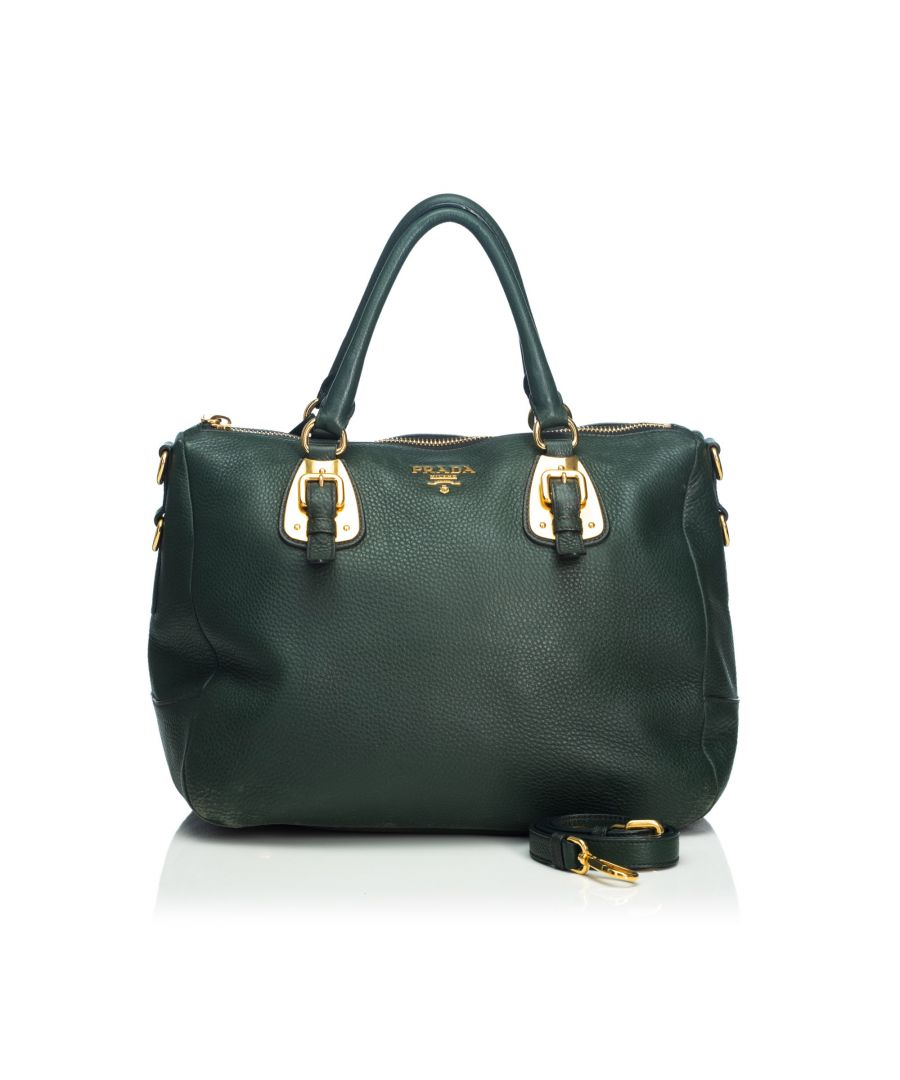 Image for Prada Vitello Daino Leather Satchel Green