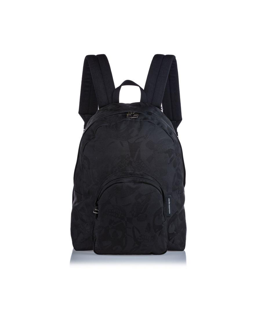 Image for Alexander McQueen Printed Jacquard Backpack Black