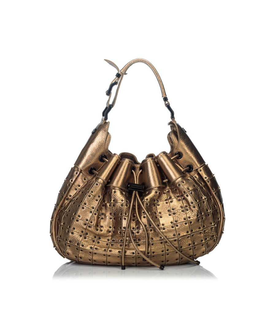 Image for Burberry Metallic Warrior Shoulder Bag Gold