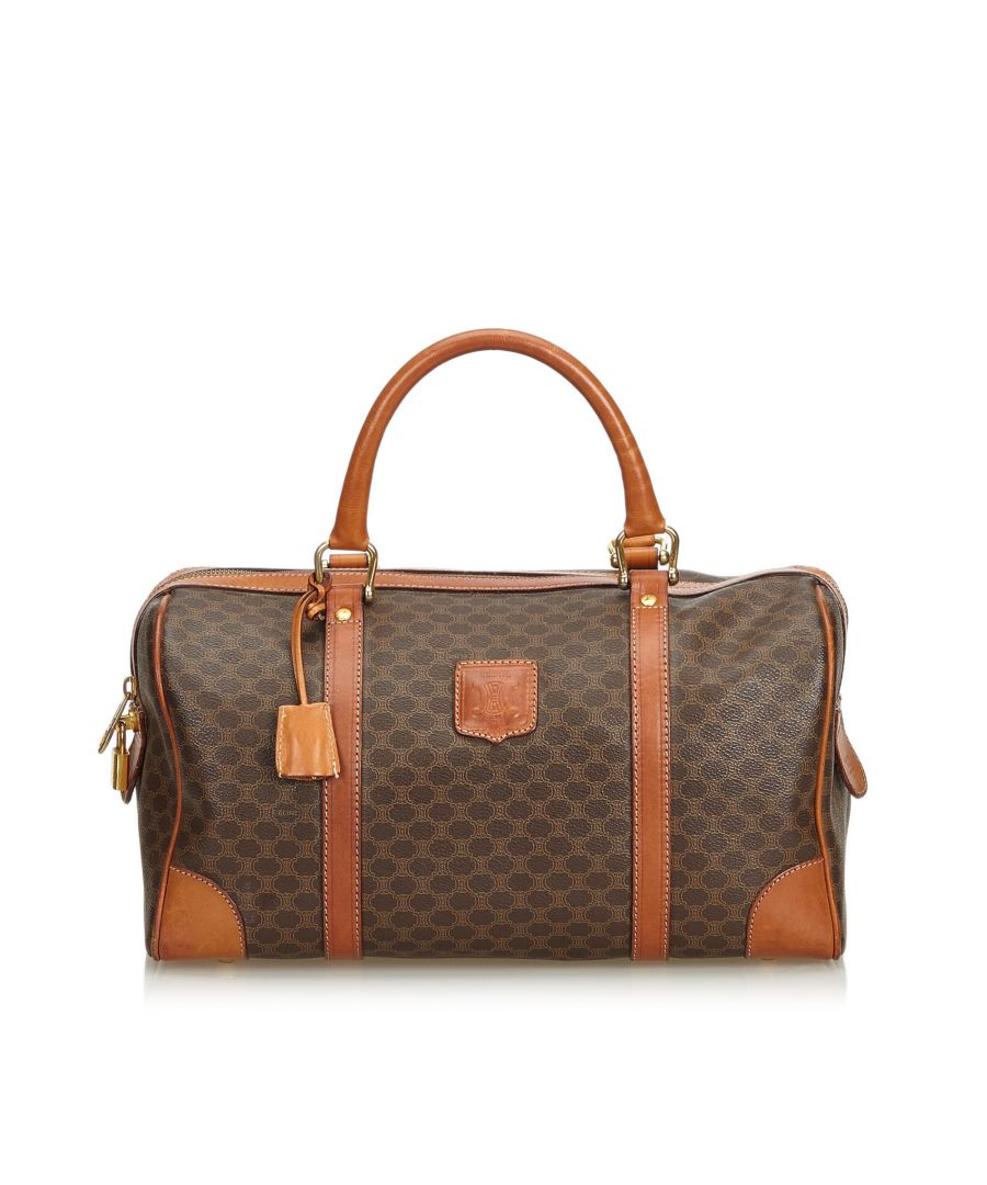 Image for Celine Macadam Boston Bag Brown