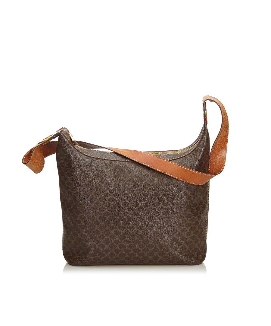 Image for Vintage Celine Macadam Shoulder Bag Brown