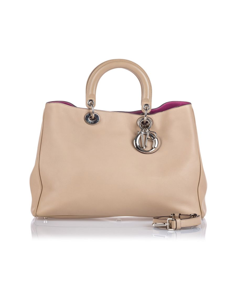 Image for Dior Medium Leather Diorissimo Satchel Brown