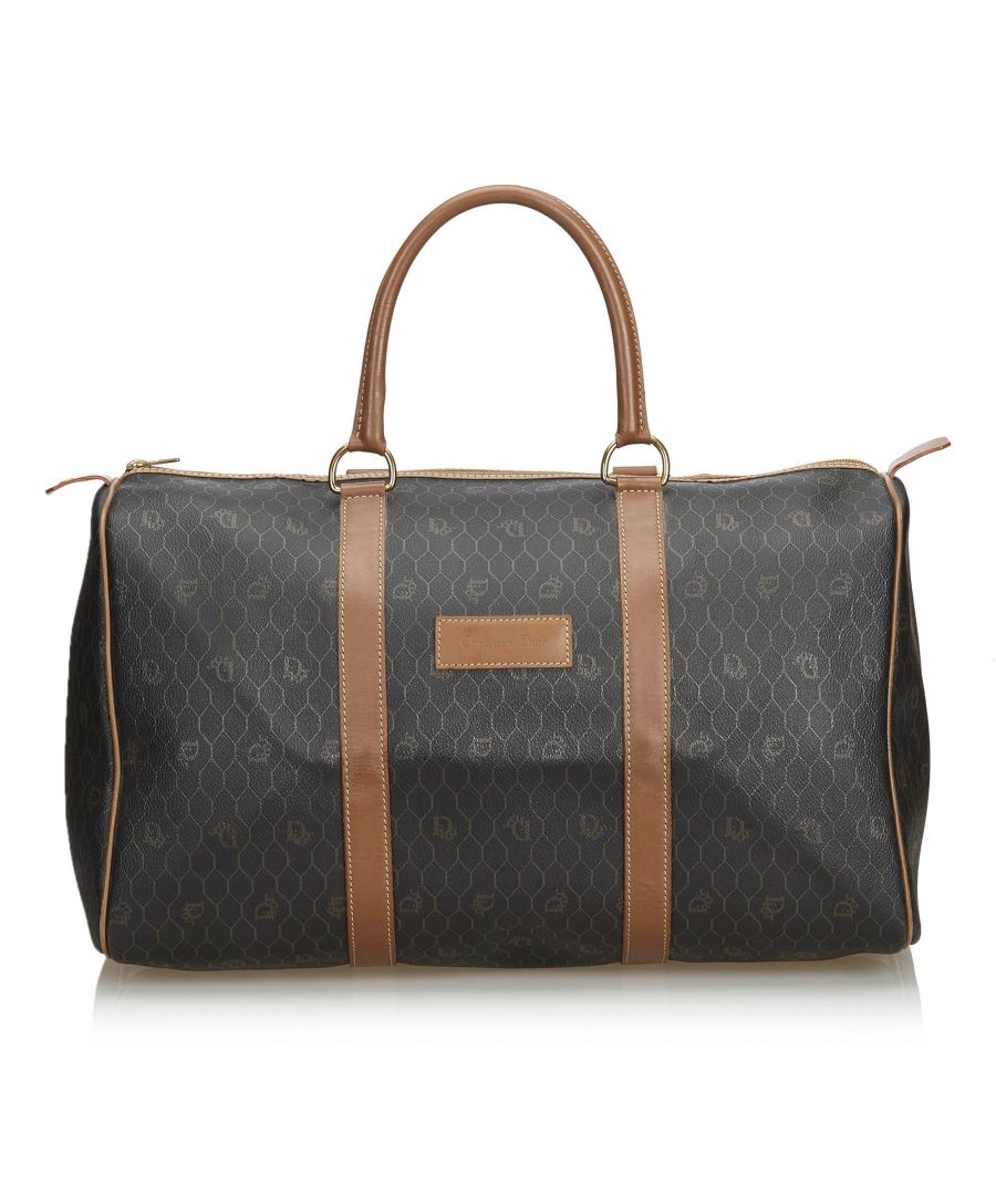 Image for Vintage Dior Honeycomb Duffle Bag Black