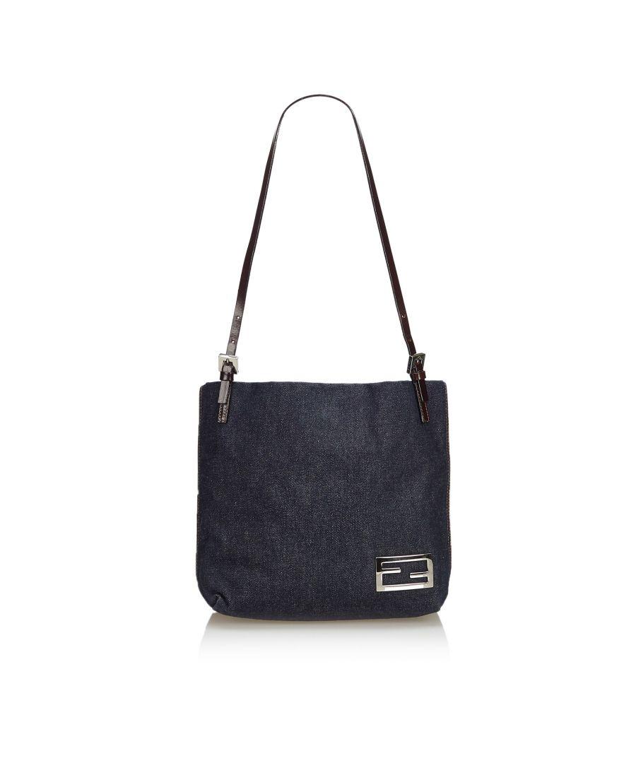 Image for Vintage Fendi Denim Shoulder Bag Blue