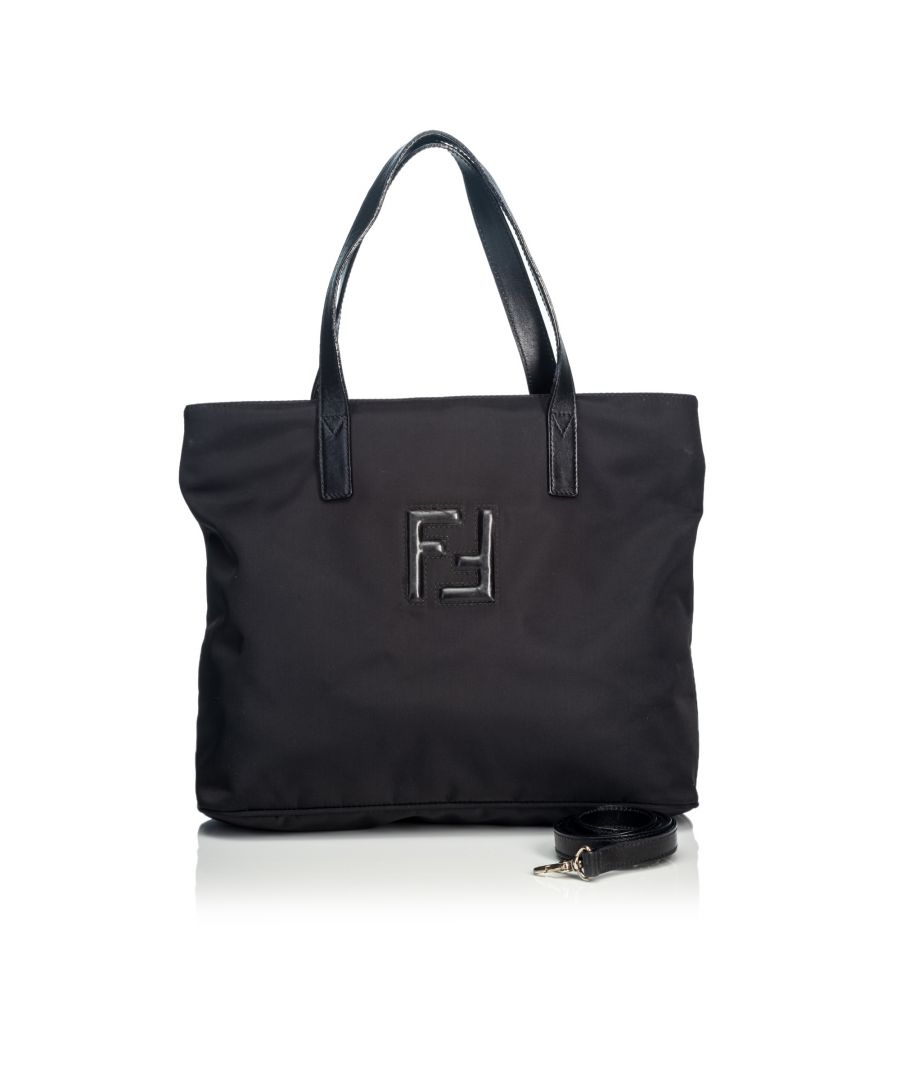 Image for Vintage Fendi Nylon Satchel Black
